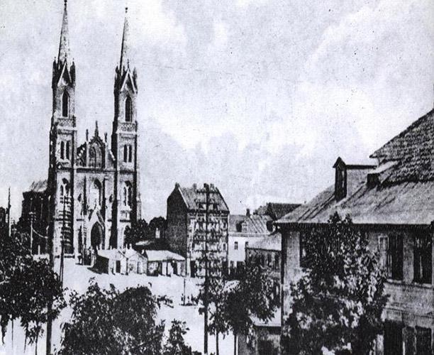 Kościół św.Wawrzyńca rok 1929