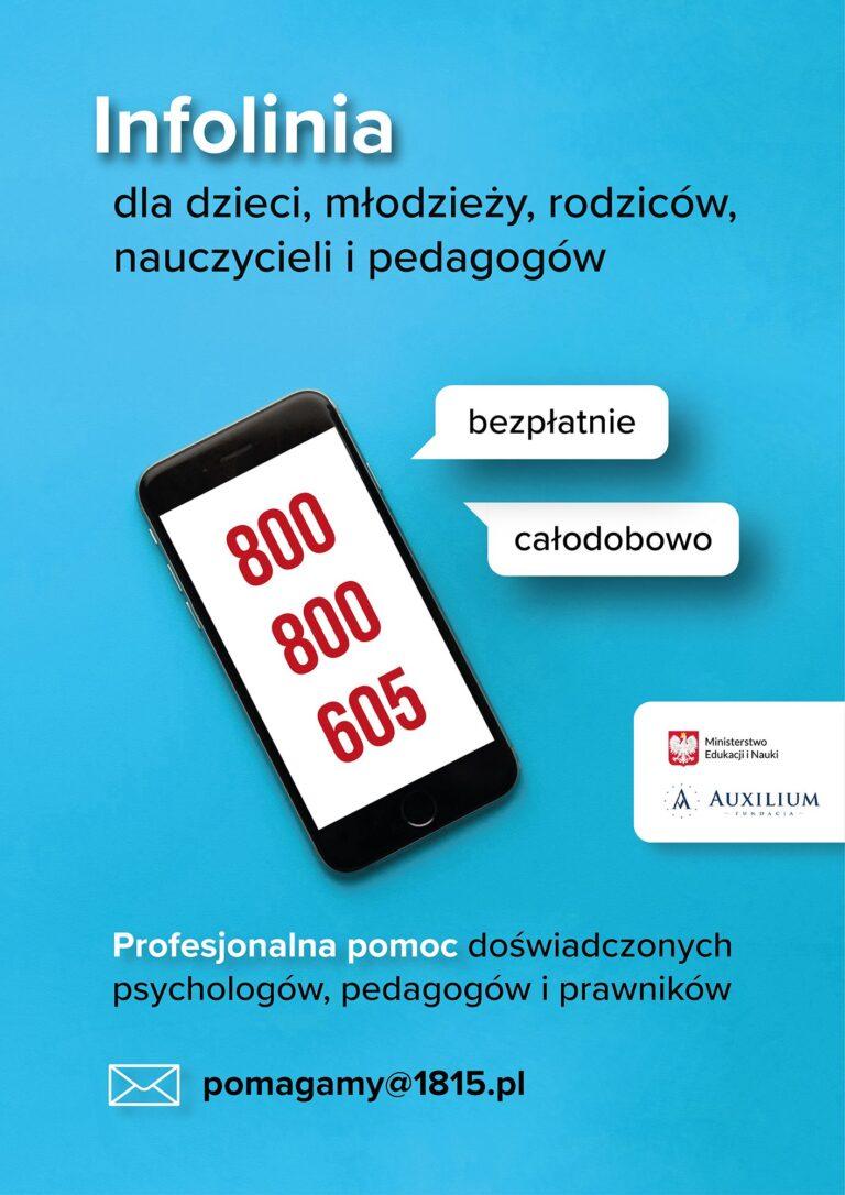 Read more about the article INFOLINIA DLA DZIECI IMŁODZIEŻY